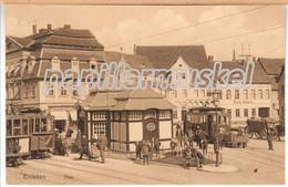 Eisleben, Plan, Haltestelle Sraßenbahn, 1912 - Klingenthal
