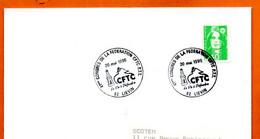 62 LIEVIN   LA FEDERATION CFTC  1996 Lettre Entière N° JK 916 - Gedenkstempels