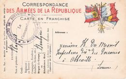 CPFM 7 Drapeaux Cachet Du Commandant Du Bataillon De Douaniers De Boulogne Sur Mer 10 Août 1915 Pr Abbeville - 1. Weltkrieg 1914-1918