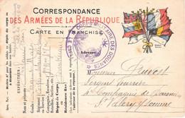 CPFM 7 Drapeaux Cachet Du Capitaine Du Corps Militaire Des Douanes Dunkerque 9/4/1915 Pr Un Sergent 4 Cie De Douaniers - WW I