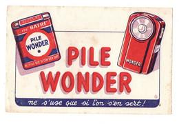 Buvard Pile Wonder Ne S'use Que Si L'on S'en Sert - Format : 21x13.5 Cm - Accumulators