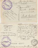 2 CP Ill (Chamonix Et Thonon) Cachets 1e Et 3e Compagnie Du 1er Bataillon Actif Des Douanes St Julien Et Thonon 1918 - WW I