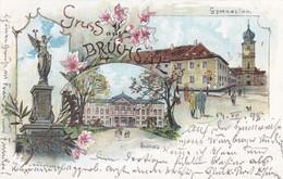 BRUCHSAL - BADEN-WÜRTTEMBERG - DEUTSCHLAND - LITHO-ANSICHTKARTE 1897. - Bruchsal
