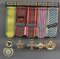 Barrette De 5 Médailles En Réduction - Francia