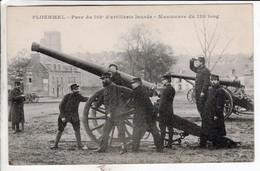 Cpa - Ploermel Parc Du 102 E D Artillerie Lourde Manoeuvre Du 120 - Ploërmel