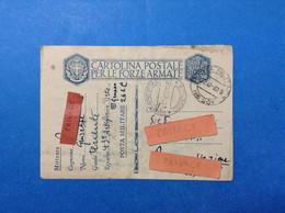 1940 ITALIA REGNO CARTOLINA POSTALE FORZE ARMATE ANNULLO POSTA MILITARE 261 - Entero Postal
