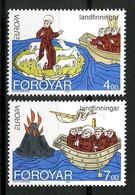 FEROE 1994 N° 254/255 ** Neufs MNH Superbes C 7 € EUROPA. Animaux, Volcan Moutons Bateaux Faune Boats Vulcano - Faroe Islands