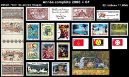 WALLIS ET FUTUNA Année Complète 2006 + BF - Yv. 651 à 671 + BF 21 ** MNH - 22 Timbres  ..Réf.W&F23100 - Full Years