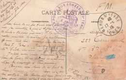 POSTE AUX ARMEES 223ème Régiment Territorial - Cachet Rond - CP Mehun Sur Yèvre 17 Juin 1915 Ruines Chateau Charles - WW I