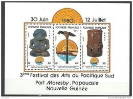 """Polynésie Bloc YT 5 BF """" Festival Des Arts Du Pacifique """" 1980 Neuf** - Blocchi & Foglietti"""