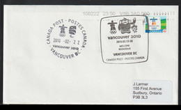 Canada Cover 2010 Vancouver Olympic Games - Vancouver Welcome (G126-9) - Hiver 2010: Vancouver