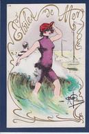 CPA Baigneuse Par Guillaume Femme Woman Non Circulé Art Nouveau - Guillaume