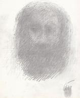 CESAR Baldaccini -1921-1998 - Autoportrait - Abstraction Lyrique - Signature En Bas à Droite & Empreinte Digitale - Dibujos