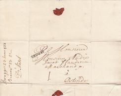 BRUGES Brugge 23 Maart 1754 Naar Oostende (port 1 Sol) (zonder Inhoud) - 1714-1794 (Austrian Netherlands)