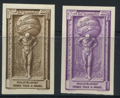 FRANCE - EXPO. PHILA. INTERNATIONALE DE PARIS 1925 N° 7a , 2 COULEURS , ND * * - SUP - Briefmarkenmessen