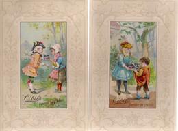CHROMO CIBILS 2-9-11 COUPLES WITH FRAMES-RESERVE CALENDER 1894-WEFERS W. CREFELD-6 STUKS - Sonstige