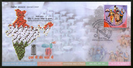 India 2021 Roll Out Of COVID-19 Vaccination Drive Health Special Cover # 18455 - Droga