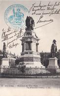 CP Cachet Bleu Ciel Du Chef Du Bataillon De Forteresse Des Douaniers De Belfort Sans Date - 1. Weltkrieg 1914-1918