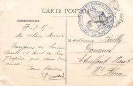 CP Ill St Amarin Cachet Du Capitaine Commandant La 2e Compagnie Du Bataillon De Forteresse Des Douaniers De Belfort 1915 - 1. Weltkrieg 1914-1918