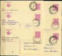 6 Gelopen Kaarten 7.50 F - Met Neutrale Stempel - Postales [1951-..]
