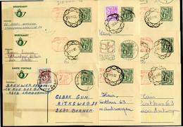 18 Gelopen Kaarten 6.50 F - Met Verschillende Stempels En Bijfrankeringen - Na Te Zien - Postales [1951-..]