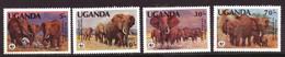 Oeganda / Uganda 361 T/m 364 MNH ** WWF WNF (1983) - Uganda (1962-...)