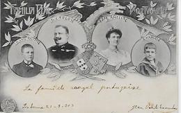 Portugal - Família Real - D. Carlos, D. Amélia  D. Manuel E D. Luís Filippe.(Circulado Em 21-7-1903). - Koninklijke Families