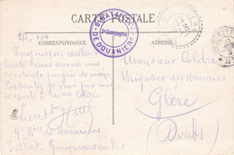 CP Ill En FM Cachet 3e Compagnie 9e Bataillon De Douaniers 25/1/1916 Pour Un Brigadier Des Douanes à Glere Doubs - 1. Weltkrieg 1914-1918