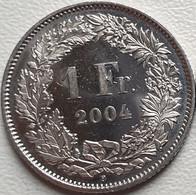 Switzerland Swiss 1 Franc 2004 AUNC - Suiza