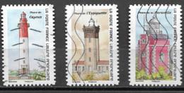 """France 2020  Oblitéré Autoadhésif - N° 1897 - 1905 - 1908 -  Repère De Nos Côtes  """" Les Phares """" - Adhesive Stamps"""