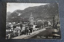 CPSM - SAINT VINCENT - Entrada In Paese - 1952 - Timbre Italien + Timbre Taxe Français - Otras Ciudades