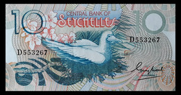 # # # Banknote Seychellen (Seychelles) Central Bank 10 Rupees AU # # # - Unclassified