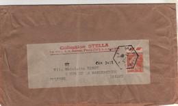 Timbre Yvert N° 235 Oblitération Hexagonale Du 23/12/30 De Chatelaudren , Côtes Du Nord ( D'Armor ) Sur Fragment Colis . - Storia Postale