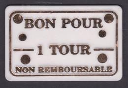 JETON DE MANEGE ENFANTIN - Turbo Jet - Bon Pour 1 Tour - Non Remboursable - 6.4 X 4.2 Cm - Other
