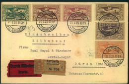 1920, Hoch Frankierter Brief Per Einschreiben/Eilboten Ab KATTOWITZ - Silesia (Lower And Upper)