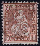✔️ Schweiz Suisse 1862 - Helvetia - Zumstein 35 (o) - CHF 225 - Avec Petit Defaut. - Unclassified