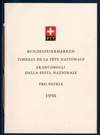"""CH 1956 Livret Des Timbres """"Pro Patria""""  (2 Scans) - Non Classificati"""