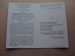 Doodsprentje/bidprentje  Magdalena  DE BYSER   Poperinge °1896 - † 1968 - Religion & Esotericism