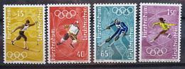 Liechtenstein 1971, Mi 551-54 Olympia MNH Postfrisch - Ungebraucht