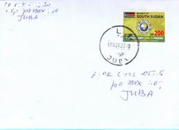 SOUTH SUDAN Cover With 2020 200 SSP Covid-19 Stamp Soudan Du Sud Südsudan - South Sudan