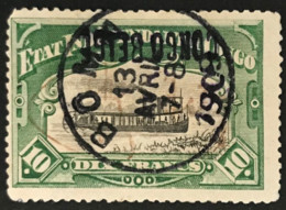 OBP39L Ob. BOMA - Timbre De Permis De Port D'arme, Signature Lavée, Fausse Surcharge Renversée - 1894-1923 Mols: Used