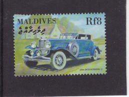 Maldives  -   Duesenberg Model J  -  1934  -  1v Timbre  -   Neuf/Mint/MNH - Coches