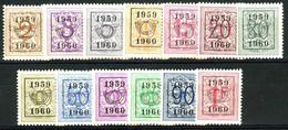 België PRE686/PRE698 * - 1959 - Cijfer Op Heraldieke Leeuw - Chiffre Sur Lion Héraldique - Preo Reeks 52 - 13w. - Typo Precancels 1951-80 (Figure On Lion)