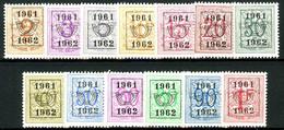 België PRE712/PRE724 * - 1961 - Cijfer Op Heraldieke Leeuw - Chiffre Sur Lion Héraldique - Preo Reeks 54 - 13w. - Typo Precancels 1951-80 (Figure On Lion)