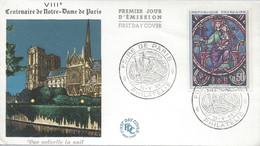Timbre 8e CONTENAIRE NOTRE-DAME DE PARIS Cachat FOIRE DE PARIS 29 Mai 1964 PARIS - Handstempel