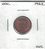Sao Tome And Principe 20 Centavos 1962 Km#16.1  Scarce UNC - Sao Tome And Principe