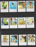 France 2019  Oblitéré Autoadhésif  N° 1741 à 1752   -  Vacances  Série Complète - Adhesive Stamps