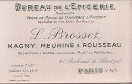 Buvard Bureau De L'Epicerie - Brosset Magny Meurine & Rousseau - Paris 1er - B