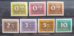 Österreich PORTO 1985/86, Mi 260-67 MNH Postfrisch - 1981-90 Unused Stamps