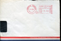 62760 Hong Kong, Red Meter Freistempel Ema, 1988  Bank Of America,  Front Of Cover !! - Other